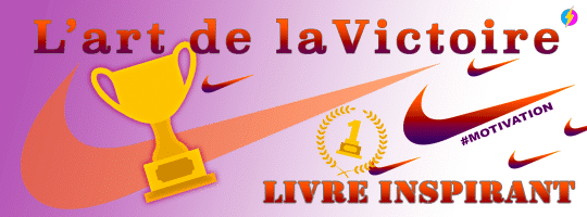 Livre inspirant l'histoire de Nike – L'art de la victoire